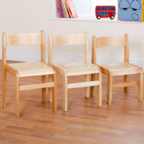 Pack of 2 Tuf Class Natural Wood Chairs